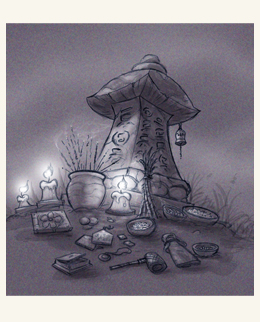 An altar for spirits