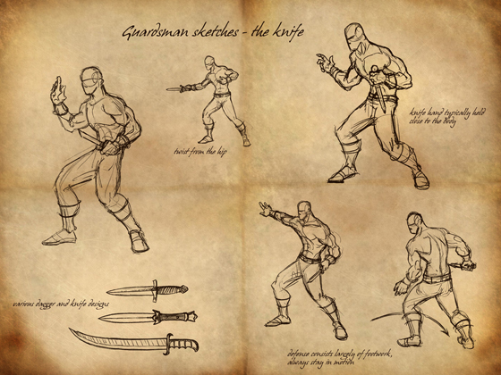 Guardsmen Sketches: Knife
