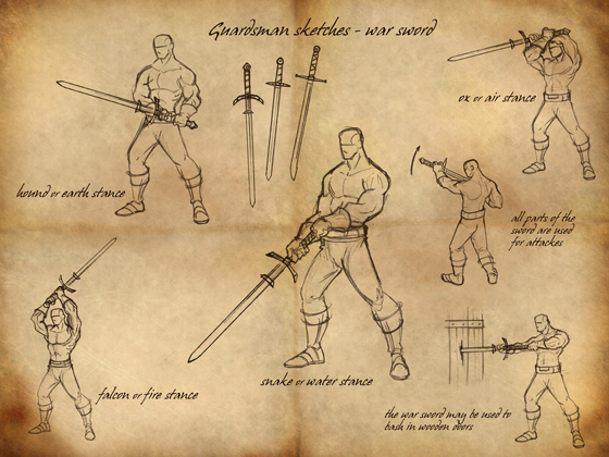 Guardsman Sketches: War Sword
